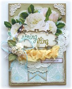 Spring Card made by Websters Pages design team member Gabrielle Pollacco using the New Beginnings collection