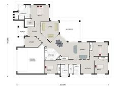 Queensland Home Design - GJ Gardner make building your new home stress free. Home Design Decor, Design Ideas, House Design, Modern Coastal, Modern Country, Dream House Plans, House Floor Plans, Single Storey House Plans, I Love House