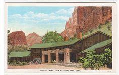 Lodge Center Zion National Park Utah 1930s #1 postcard   eBay