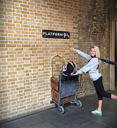 "409 Likes, 6 Comments - Shannon Merrill (@shannonnicolemerrill) on Instagram: ""Platform 9 3/4  Kings Cross Station!! Can't wait to visit the making of Harry Potter on Thursday…"""