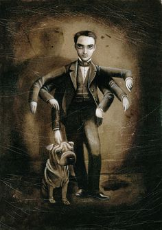 Self-portrait by Benjamin Lacombe. Courtesy of Museo ABC/Cano estudio. Click above to see larger image.