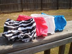 """18"""" Doll Clothes, 18"""" Doll underwear, Zebra white pink turquoise underwear, Baby Doll panties, Handmade 18"""" Girl Doll Clothes - pinned by pin4etsy.com"""