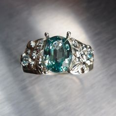 2.65cts Natural Paraiba Blue Zircon 925 Silver ring all by EVGAD