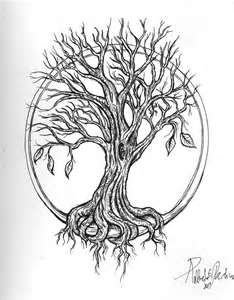 I like how the tree doesn't make a circle but the circle is still there