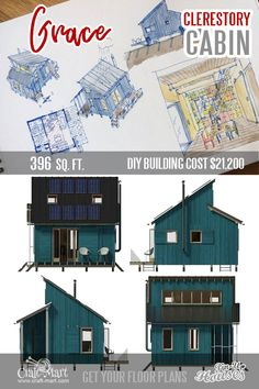 tiny house plans with loft Micro House Plans, A Frame House Plans, House Plan With Loft, Tiny House Loft, Tiny House Trailer, House Floor Plans, Small Cabin Plans, Building Costs, Cool Woodworking Projects