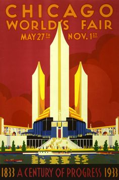 Chicago World Fair Vintage Travel Poster by MarksVintagePosters