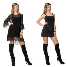 Двойка облегающее платье и платье-сетка № 1041 с набивным горохом выглядит стильно и необычно.Облегающее короткое платье выполнено из креп-дайвинга. Верхнее удлиненное платье-сетка свободного кроя - евро-сетка флок. Практичная модель, платья можно носить отдельно. Ткань эластичная, поэтому платье не имеет застежек. Подробнее на сайте: http://krasimira.com.ua/katalog/platya/sasha-plate/s-1041