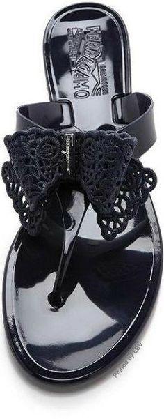 Salvatore Ferragamo jelly sandals | LBV ♥✤ | BeStayBeautiful