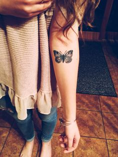 Tattoo in memory of my grandma❤️ #tattoo #butterfly