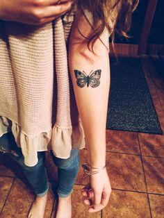 Tattoo in memory of my grandma❤️ #tattoo #butterfly