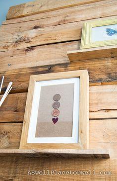 Framed penny art
