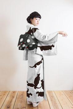 さく研究所:猫の柄の夏きもの #yukata #kimono #猫 #cat http://sakuken.net/wp/product/%E3%82%BB%E3%82%AA%CE%B1%E7%9D%80%E7%89%A9-2/…