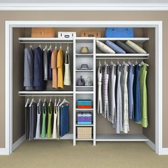 ClosetMaid Impressions 82.46 In. H X 108 In. W X 14.57 In. D Basic Closet  System In White (6 Piece) 53016   The Home Depot