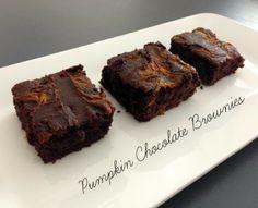 Pumpkin Chocolate Brownie | Simply2B.com Chocolate Brownies, Baked Goods, Pumpkin, Tasty, Baking, Desserts, Food, Chocolate Chip Brownies, Tailgate Desserts