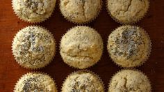 Poppy seeds lend a pleasant crunch to these aromatic, lemony muffins.