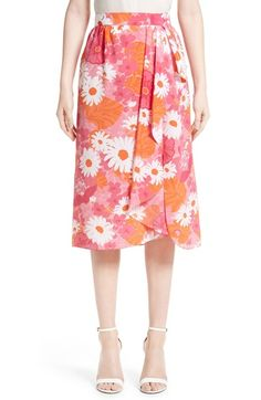 Michael Kors Floral Print Silk Wrap Skirt available at #Nordstrom