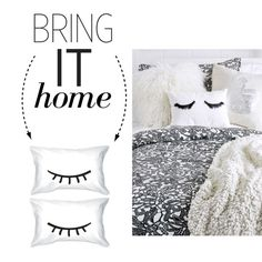 Bring It Home: Eyelash Pillow by polyvore-editorial on Polyvore featuring polyvore, interior, interiors, interior design, home, home decor, interior decorating and bringithome