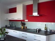 37 meilleures images du tableau cuisine rouge et grise | Kitchens ...