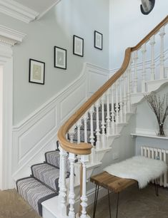 Wendy and Dean Simpson had no intention of taking on a big renovation project until they found their dream home Georgian Kitchen, Modern Georgian, Georgian Style Homes, House Staircase, Staircase Design, Stairs, Staircases, Georgian Interiors, Cottage Interiors