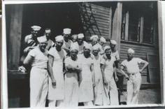 Grandpa Allison as a navy baker. WWII