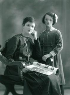 Guendolen Wilkinson and her little sister Muriel
