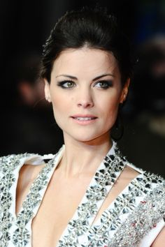"Jaimie Alexander arriving for premiere of ""The Last Stand"" at the Odeon West End, Leicester Square, London. #makeup #celebrity #beauty"
