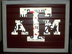 Texas A&M License Plate Art - I want to do this with my aggie plates