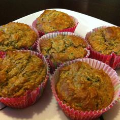 IP Oatmeal and Zucchini muffins  Finely grate one small zucchini (1 cup) squeeze out excess moisture in a paper towel. Mix in two eggs, 1 tsp baking powder, 2 maple oatmeal protein pkgs, 2 tbsp Splenda, 1/2 tsp cinnamon, 1 tsp vanilla, pinch of salt & Mix together, add roughly 3 oz of water to make a good batter.  Spray muffin tin generously with pam if not using liners and fill 3/4 way full.  Bake at 385 F for 15 min.  Will make 7-8 muffins.