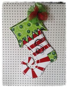 Stocking door hanger Christmas door hanger by Furnitureflipalabama, $30.00