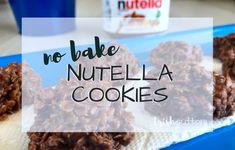 No Bake Nutella Cookies Simple Recipe | TrishSutton.com