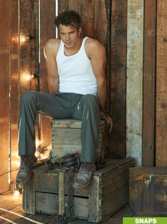 """Timothy Olyphant """"Bag O Tricks"""" The Squint, The """"tongue in cheek"""", The point, the """"pigeon toed strut"""", the toothy smirk, The look of incredulity, The Frown, The John Wayne wrist, The """"Bad Boy Swagger""""."""