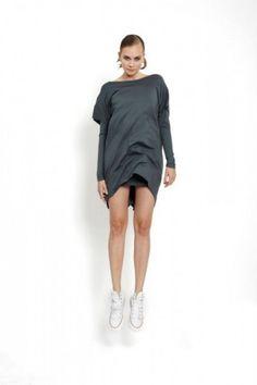 jumping model in jersey double dress winter, design Lucie Kutálková/ LEEDA Winter Dresses, Dress Winter, Winter Collection, Fall Winter, Normcore, Model, Store, Design, Fashion