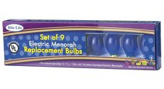 9ct Blue C7 1/2 Electric Hanukkah Menorah Glass Replacement Bulbs >>> Continue to the product at the image link.