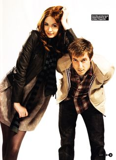 Karen Gillan and Arthur Darvill for SFX Magazine  deardarkness: Fabulous the pair of them