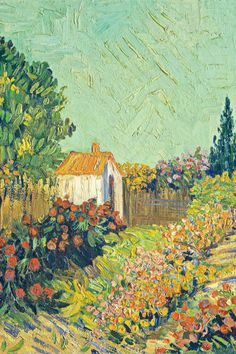 Van Gogh Landscapes, Landscape Paintings, Garden Painting, Diy Painting, Vincent Van Gogh, Van Gogh Pinturas, Van Gogh Paintings, National Gallery Of Art, Canvas Prints