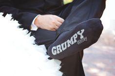 This sweet groom showed some Disney love #Disney #wedding #groom #Grumpy #socks
