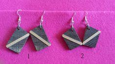 Holzohrringe - Ohrhänger aus Holz - ein Designerstück von FredNeu bei DaWanda