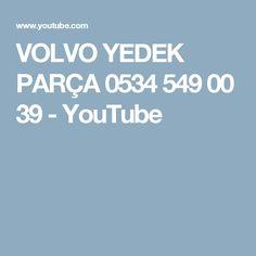 VOLVO YEDEK PARÇA 0534 549 00 39 - YouTube