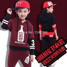 Online Shop Autumn GirlsBoys Winebottle Design Clothing Set Coat Jacket Sweater Outerwear+Pants Children Kids Baby Clothing Set Clothes Suit|Aliexpress Mobile
