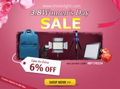 International women's day big sale on linkdelight.com ! SAVE an extra 6% off with [coupon code:NP170224] #women's day #sale