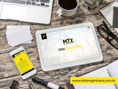 Peça para divulgação do novo site da MTX Engenharia & Serviços nas redes sociais