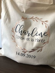 Tote bag couronne Or Rose