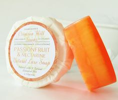 PASSIONFRUIT NECTARINE Natural Round Soap  large 5 by crimsonhill, $6.50