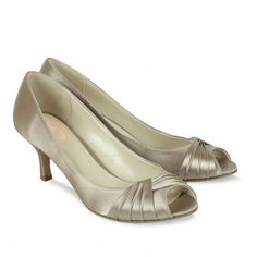 Paradox Pink Romantic Taupe Satin Party or Bridesmaid Shoes