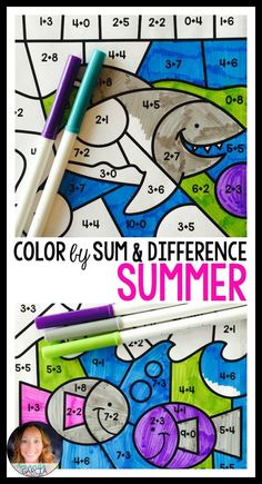 Students love to color by by code! These coloring sheets are just what you need this summer to help students practice adding and subtracting to ten. They will have fun coloring by sum and difference! The perfect end-of-the year activity for kindergarten and first grade.