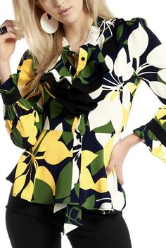 Ruffle Blouse, Long Sleeve, Sleeves, Tops, Women, Fashion, Moda, Women's, La Mode