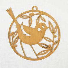 Lasercut card - Birdie hanger