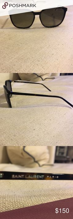 Saint Laurent Sunglasses SL 086 HA Gently used Saint Laurent sunglasses complete with the case that they came in and cleaning rag! Black with some tortoise specked in. Saint Laurent Accessories Sunglasses