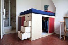 Optez pour un lit déco deux-en-un, avec dressing intégré                                                                                                                                                                                 Mehr