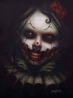 Creepy Clown by Rodger Pister